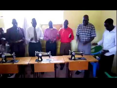 The GMFC WFF Brethren Worshipping Jesus for the Blessings of Sewing Machines