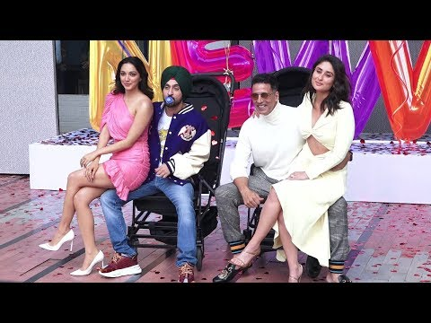 Good Newwz Trailer Launch - Akshay, Kareena, Kiara & Diljit Funny Entry