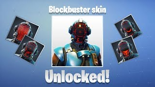 The Different Styles of Blockbuster Skin ( The Visitor ) - Fortnite Battle Royale