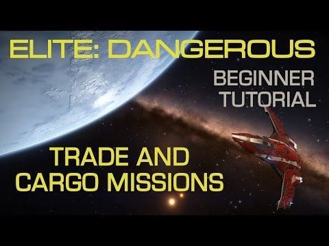 Elite Dangerous - Starter Trade Missions and Scanning for easy early credits.  Lets Play Tutorial.