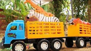Toys Truck Transport Animal Farm   Animals saved from Hurricane Floods
