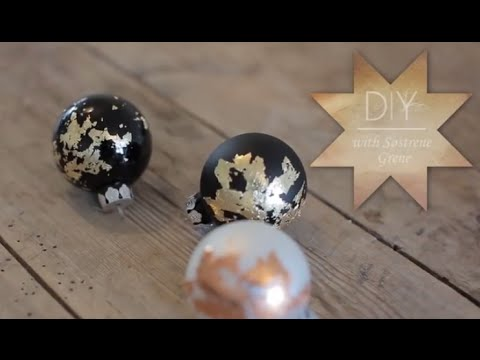 DIY: Christmas ball ornaments with leaf metal by Søstrene Grene