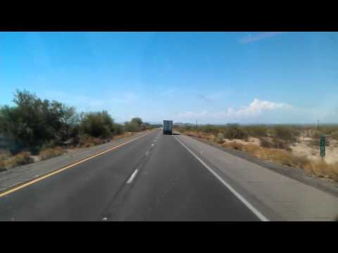 Interstate 10 West rolling towards Casa Grande, Arizona