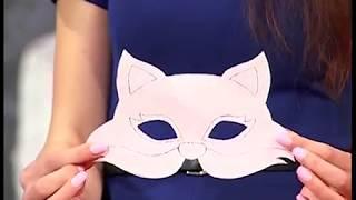 маска лисички из фетра