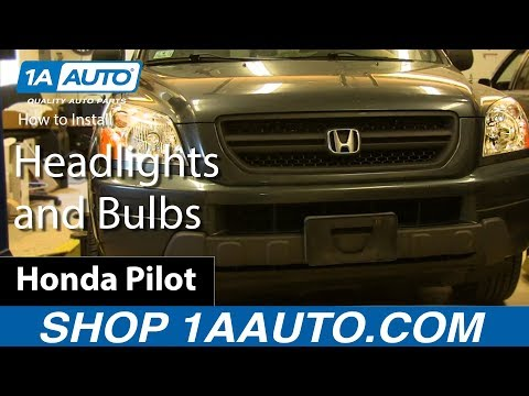 How to Replace Headlight Assembly 03-05 Honda Pilot