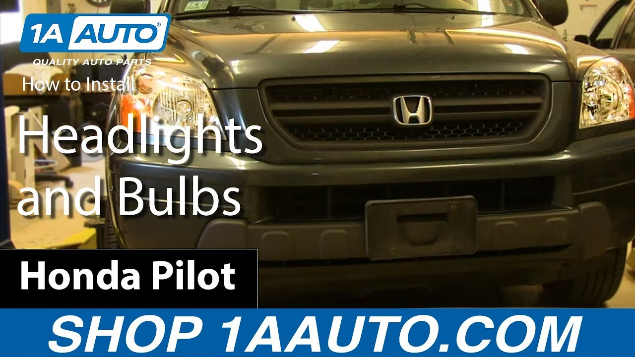 How To Install Replace Change Headlights and Bulbs 2003-05 Honda ...