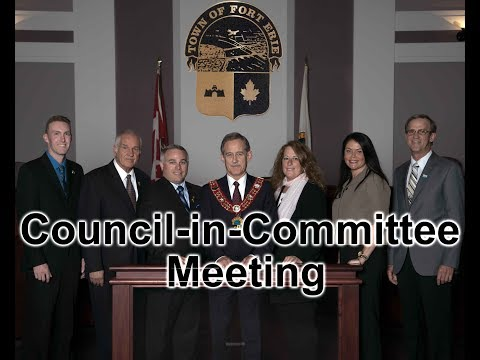 May 22, 2018: Council-in-Committee Meeting