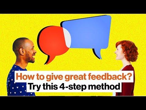 A four-step method for giving foolproof feedback | Michelle Tillis Lederman