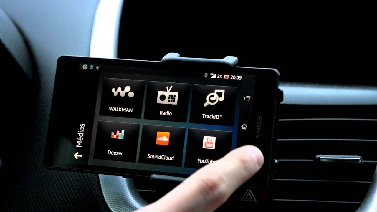 Exemple d'utilisation du NFC et de Smart Connect - Sony Xperia Z en voiture