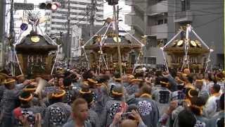 平成24年 秦野・曽屋神社例大祭<曽屋・八幡・八坂>渡御=本町四ツ角