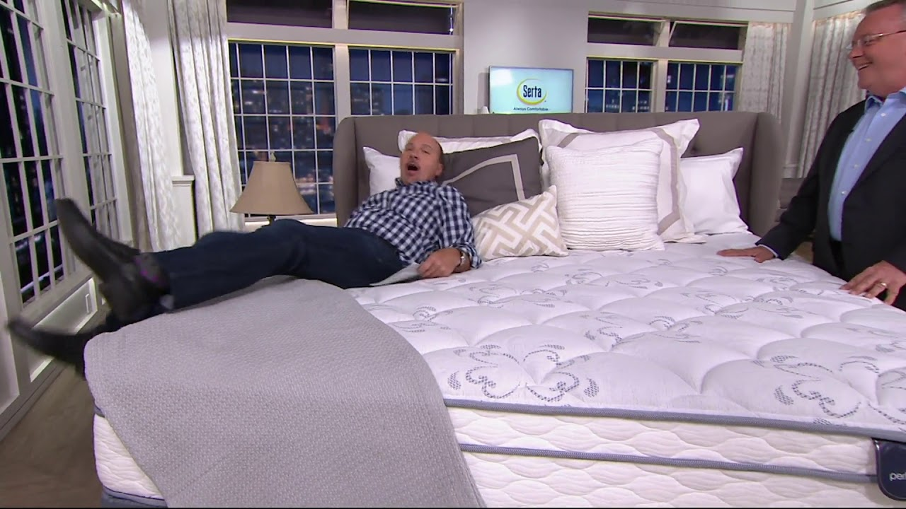 serta perfect sleeper freeport eurotop mattress set on qvc