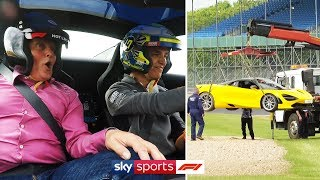 Lando Norris drives McLaren 720S around Silverstone (and ends up in the gravel!)