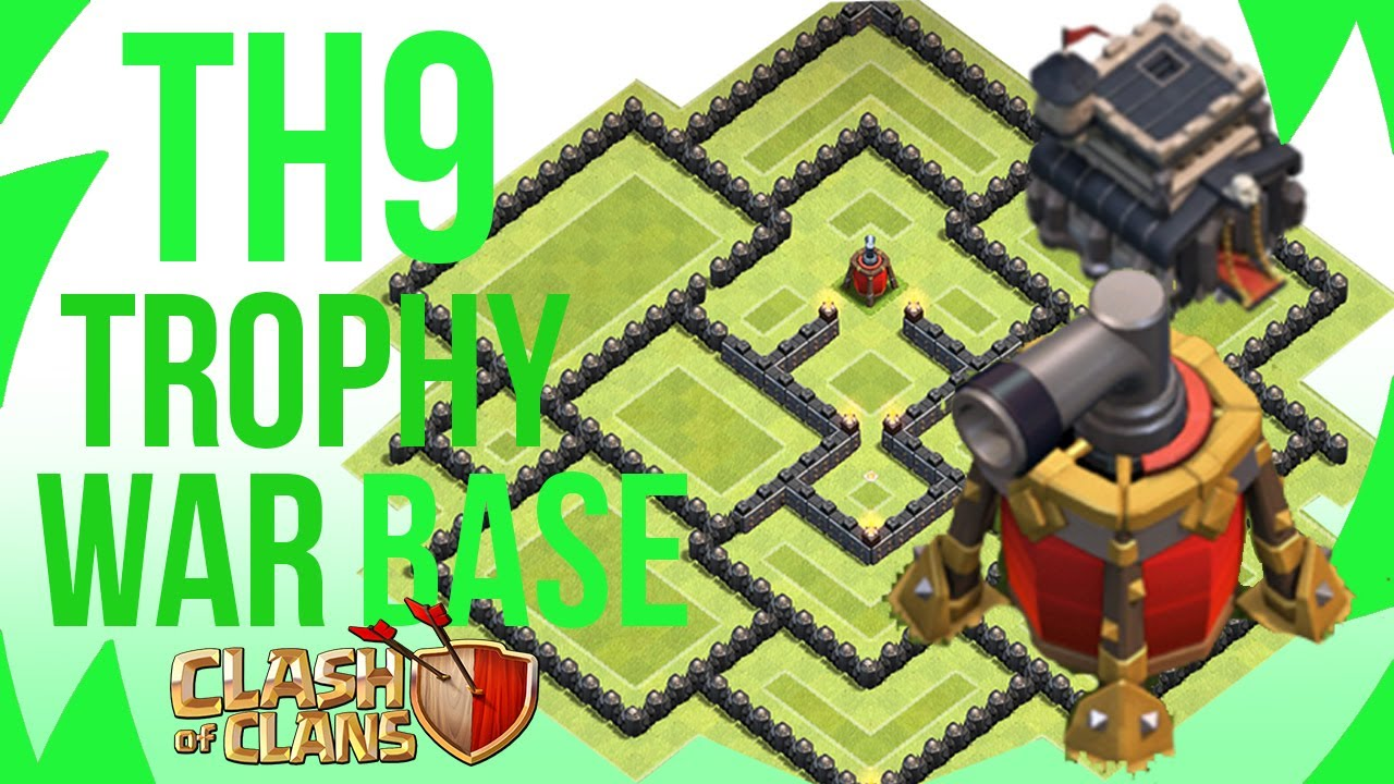 The best town hall 9 trophy base air sweeper 4th mortar youtube
