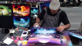 Las Ramblas Spraypaint Art 22/06/13 1080p [HD]