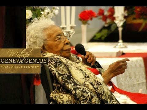 Mother Gentry 1912 2013 Eternity Youtube