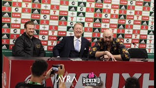 FULL TYSON FURY POST FIGHT PRESS CONFERENCE AFTER ANNOUNCING DEONTAY WILDER FIGHT