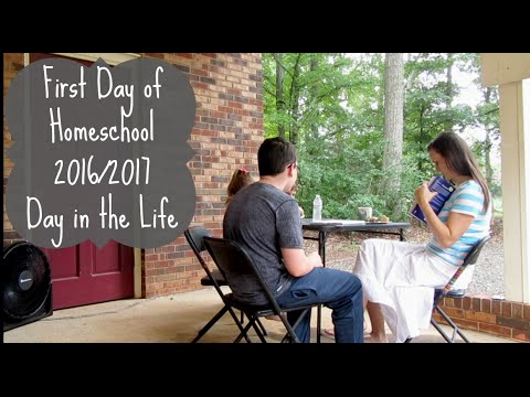 The First Day of Homeschool- Day in the Life 2016/2017