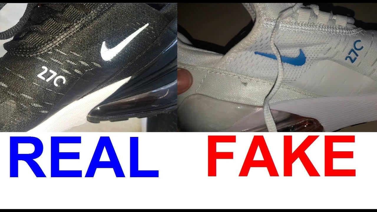 real vs fake nike airmax 270 how to spot fake nike airmax sneakers