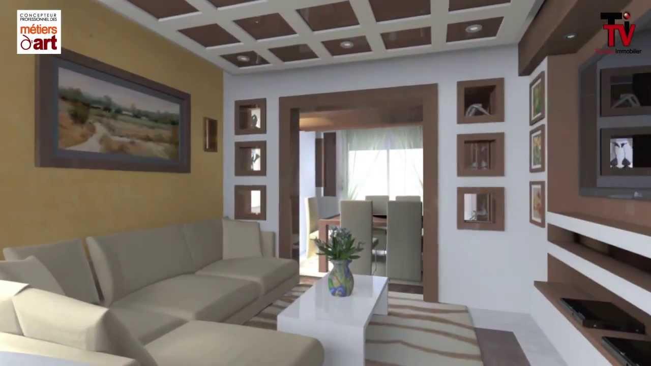 Superbe Decoration Appartement Marocain #11: Décoration Du0027un Appartement à Sousse - YouTube