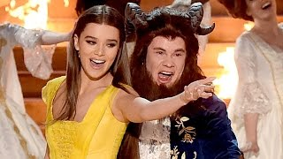 Adam Devine Parodies 'Beauty & The Beast' w/ Hailee Steinfeld 2017 MTV Movie & TV Awards