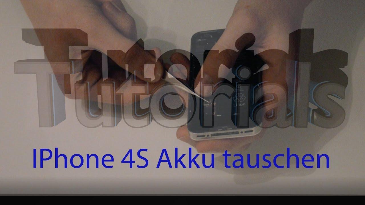 iphone 4s akku tauschen deutsch hd youtube. Black Bedroom Furniture Sets. Home Design Ideas