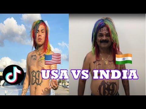 USA VS INDIA TIKTOK MEME COMPILATION | The Box Indian Remix