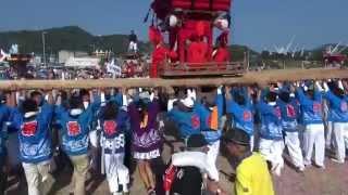 愛媛県上島町で開催された「ゆめしまフェスタ」に登場した 下弓削のだん...