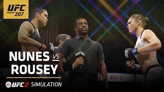 UFC 207 | EA SPORTS UFC 2 Simulation – Nunes vs Rousey