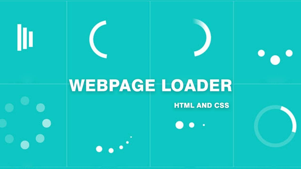 How to create a loader in website || Html and Css 3