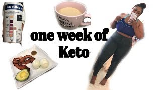 ONE WEEK OF KETO, LOST 6LBS   What I ate, drank, my workout