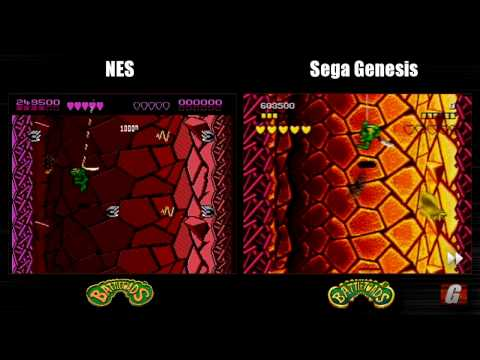 Dual Play: BATTLETOADS (NES + Sega Genesis longplay)