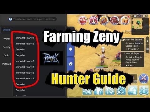 Ragnarok M: Eternal Love How to Farm Zeny Hunter Guide
