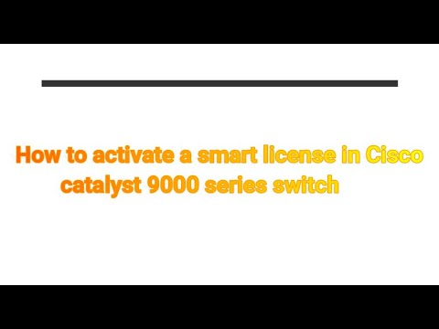 How to activate a smart license in Cisco catalyst 9000 series switch