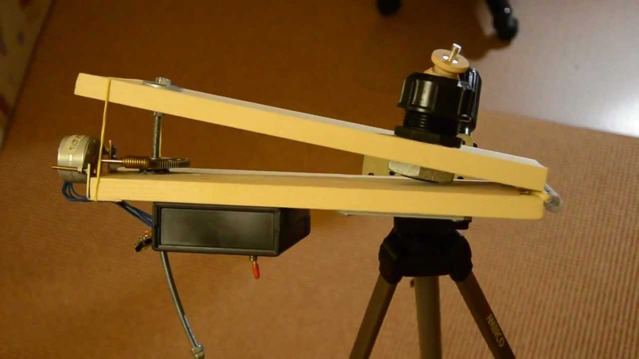 Barn door tracker youtube for Motorized barn door tracker