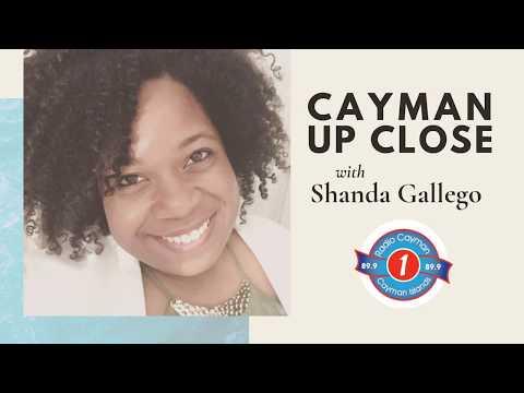 Radio Cayman's Shanda Gallego with Governor Martyn Roper
