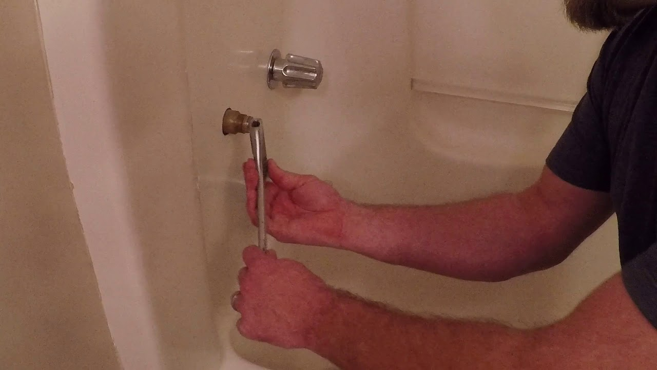 how to fix dripping faucet tub/shower leaking - YouTube