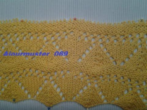 Ajourmuster  069*Stricken lernen* Muster für Pullover Strickjacke Mütze*Tutorial Handarbeit