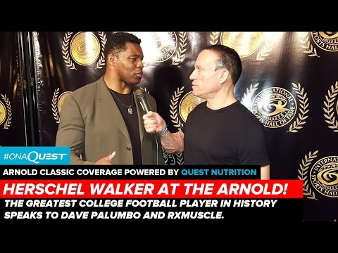 Herschel Walker Speaks to RXMuscle at the Arnold Classic!