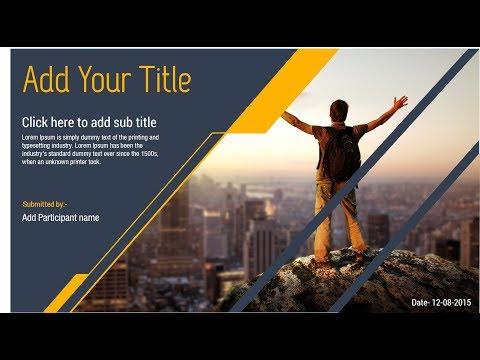 Attractive PowerPoint Slide Design Tutorial !!