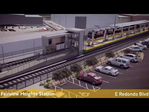 LATTC student rendering of the future Crenshaw/LAX Line