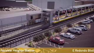 LATTC student rendering of the future Crenshaw/LAX Line