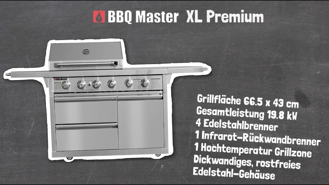 Outdoorküche Mit Gasgrill Xl : Bbq master xl premium youtube