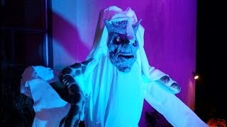 ♪ Halloween Lighting Decor Demo: Spot Light, Uplights, Fog Machine & Wall Color Wash ♪