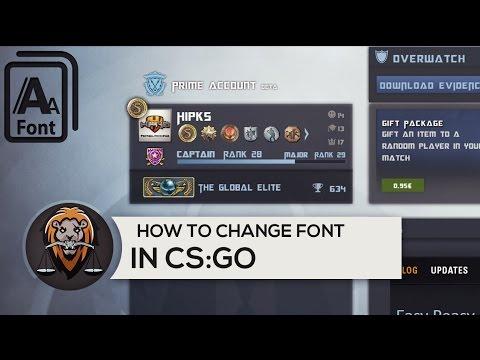 How to change cs go font