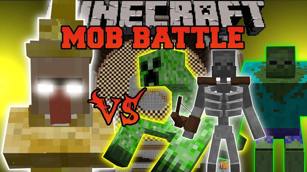 Lightning witch vs mutant zombie mutant creeper mutant - Minecraft zombie vs creeper ...