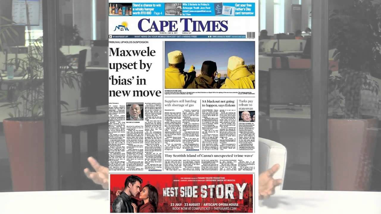 NEWSPAPERS: Eskom, Jordaan & Kaizer Chiefs   News24