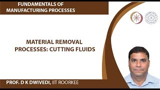 Material removal processes: Cutting fluids