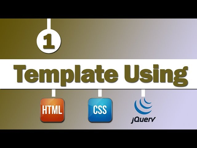 Design Template Using ( HTML , CSS , jQuery )