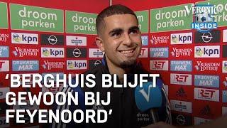 Marouan Azarkan over vertrek Berghuis: 'Hij blijft gewoon bij Feyenoord'