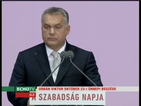 Orbán Viktor ünnepi beszéde - Echo Tv